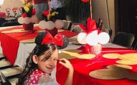 A la Minnie Mouse festejaron a Kaylin