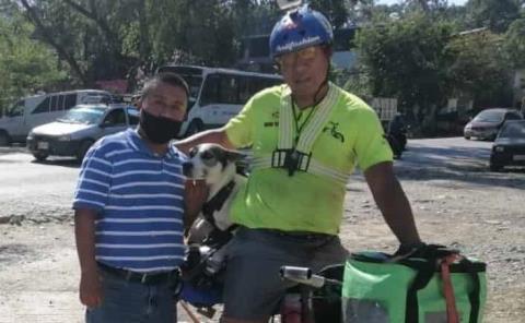 Cicloviajero Mario Agustín Lucio recorre la Huasteca