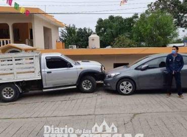 Despistado conductor provocó accidente