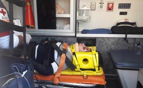 Mujer atropellada por motociclista