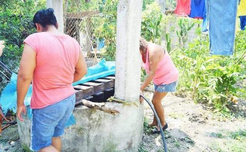 Escasea agua en Sabino del Obispo