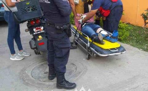 Mujer herida  en choque
