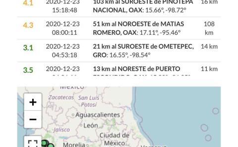 Ssn no reporta movimiento sísmico por