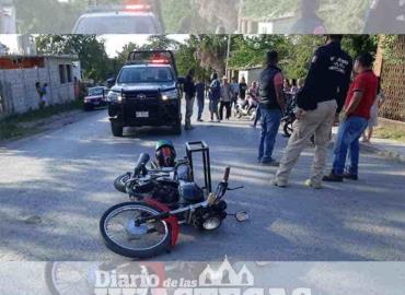Choque de motos  deja dos lesionados