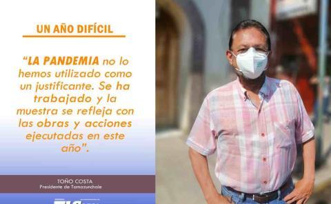 Toño Costa frente a la pandemia con obras y acciones