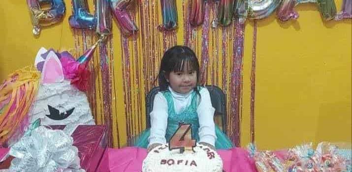 Celebraron 4 años de Sofi´a Rivera Espinoza