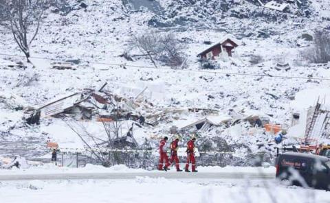 Más muertos por alud en Noruega