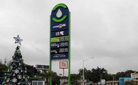 Gasolina en 19 y 20 pesos