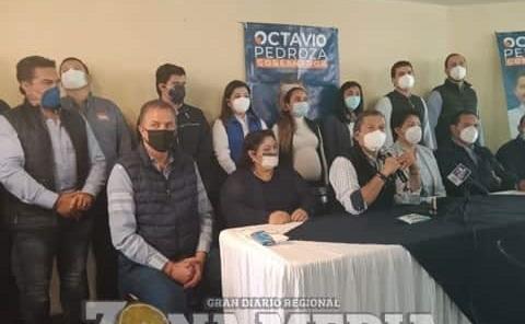 Octavio Pedroza sumó respaldo de liderazgos
