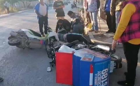 Murió adolescente en choque de motocicletas