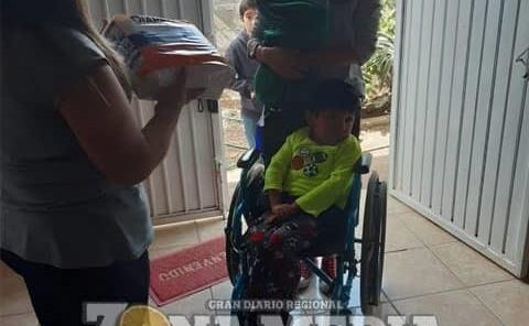Llevaron apoyos a niños discapacitados