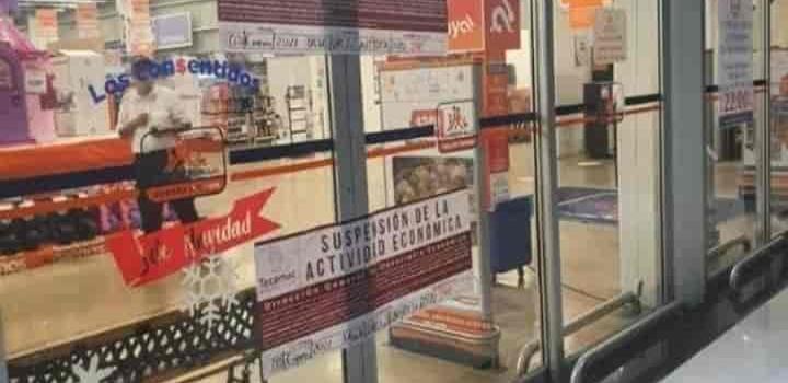 CIERRAN CHEDRAUI EN OJO DE AGUA EN TECAMAC POR INCUMPLIMIENTO DE MEDIDAS SANITARIAS