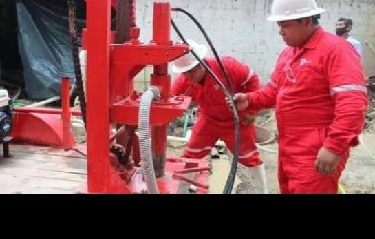 Concluyeron trabajos de perforación en Tanquián