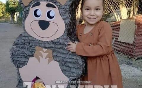 La nena Mariel cumplió 4 años