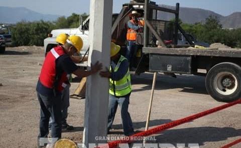 Ampliaron red eléctrica en ejido Santo Domingo