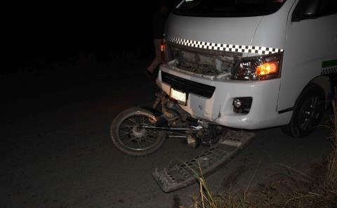 Motociclista se salvó