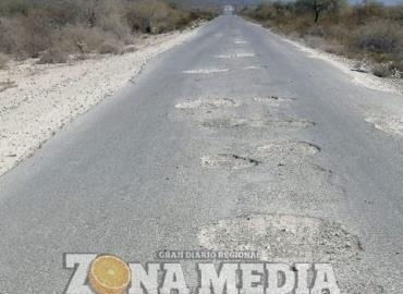Intransitable camino hacia ejido Palomas