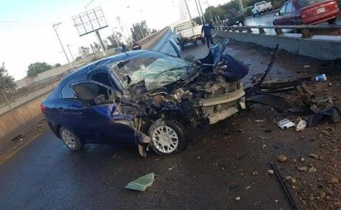 Camioneta chocó contra un vehículo