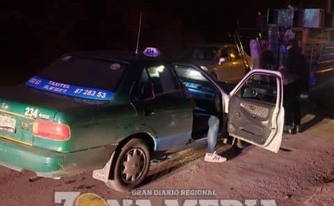 Taxista protagonizó choque por alcance