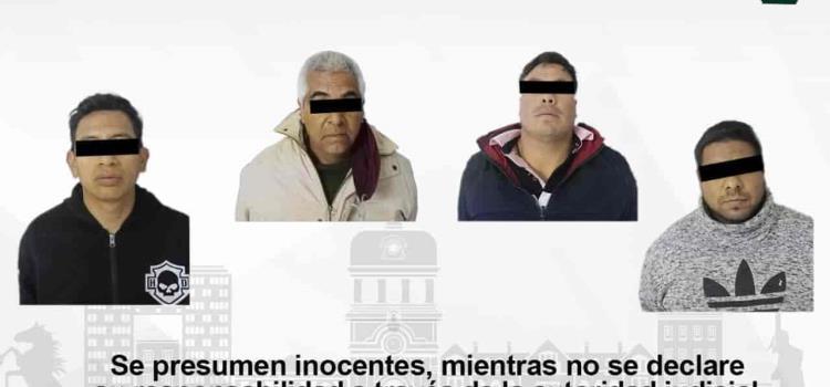 Asegura Policía de Pachuca a cuatro individuos por presunto allanamiento de vivienda