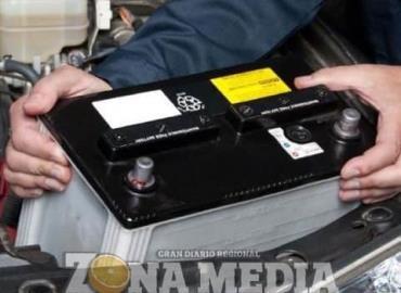 Roban batería de automóvil