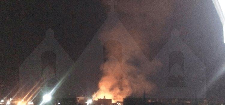Arde pastizal en Mineral de la Reforma