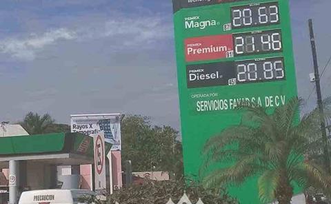 Alza de la gasolina afecta al comercio