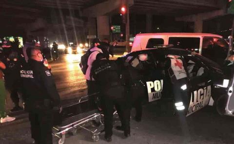 Policías heridos