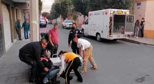 Conductor se impactó  contra un motociclista