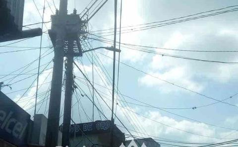 Solicitan atender  la red eléctrica