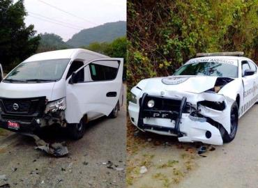 Choca patrulla de GN contra Urvan ruta Tamazunchale – Matlapa