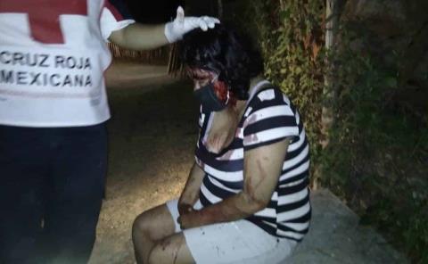 Brutal golpiza a una mujer
