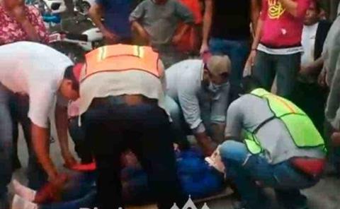 Mujer arrolló a motociclistas