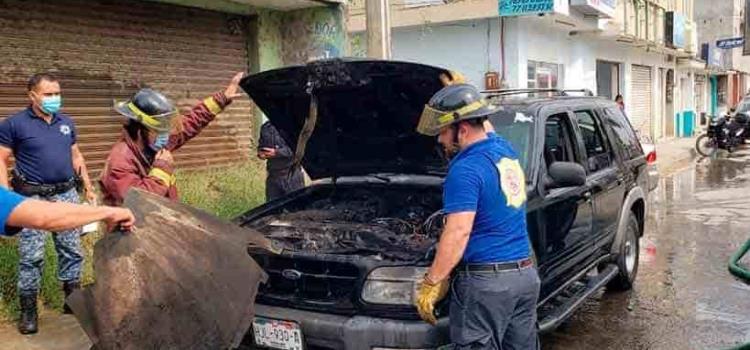 Camioneta  se incendió