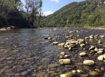 Disminuyó el río Axtla