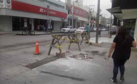 Rehabilitan la calle Hidalgo