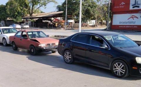 Carambola de tres vehículos