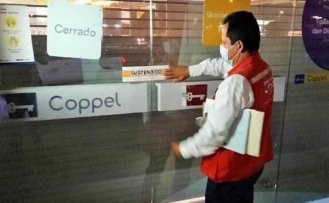 Suspenden actividad comercial de Coppel