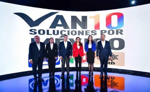 PAN, PRI y PRD presentan 10 soluciones para México