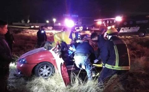Jóvenes a punto de morir en fatal accidente