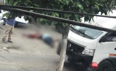 Plomean a otro sujeto en el Boulevard de Tamazunchale