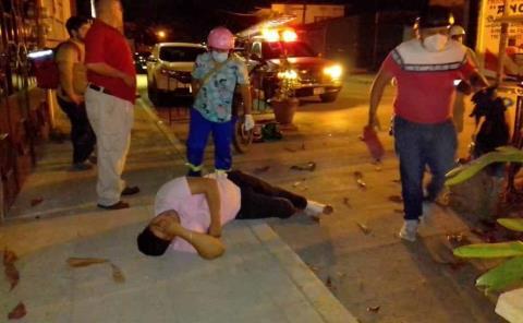 Choque de motos en la Morelos