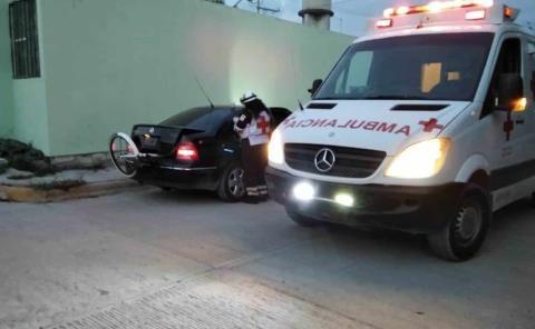 Menor atropellada por un motociclista