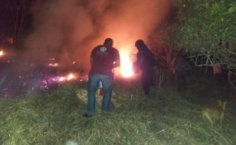 Incendio arrasó con pastizales