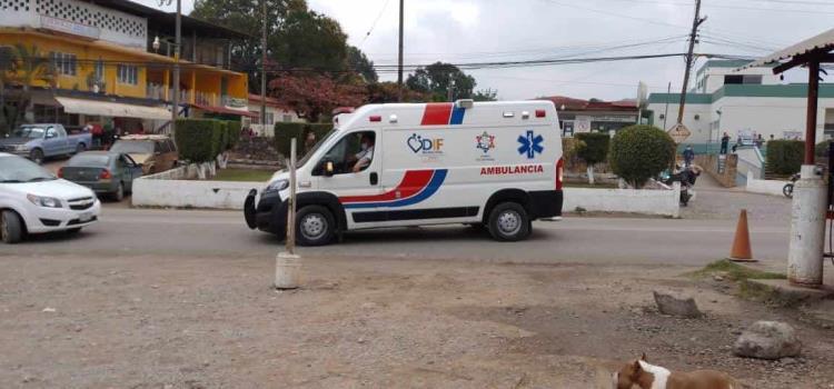Falleció en ambulancia