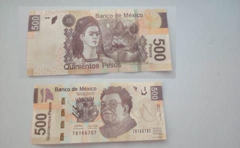 Estafan a tiendas con billetes falsos