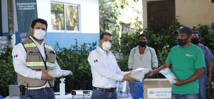 Continúa Iberdrola México donando material sanitario