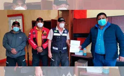 Realizan convenio alcalde y bomberos