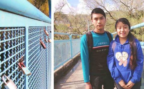 Por San Valentín: Sellan su amor con candados en puente de San Rafael