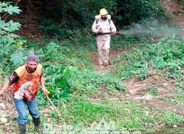 No olvidan el dengue  y limpian caudales